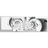 ArtRedGallery Panorama 4 Parça Saat 3D Tablo