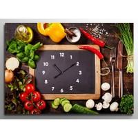 ArtRedGallery Saatli Tablo - Yiyecek İçecek Duvar Saati