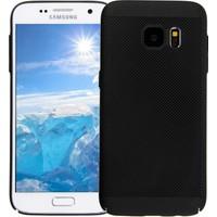 Case 4U Samsung Galaxy S7 Kılıf Delikli Sert Arka Kapak Siyah