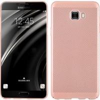 Case 4U Samsung Galaxy C5 PRO Kılıf Delikli Sert Arka Kapak Rose Gold