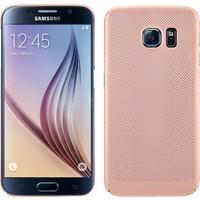 Case 4U Samsung Galaxy S6 Kılıf Delikli Sert Arka Kapak Rose Gold