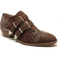Shop and Shoes 104-289A01 Taba Süet Kadın Ayakkabı