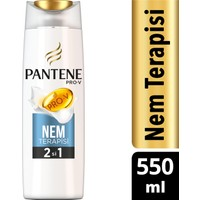 Pantene 2'si 1 Arada Şampuan ve Saç Bakım Kremi Nem Terapisi 550 ml