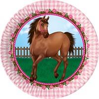Sevimli At Partisi Karton Tabak