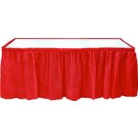 Plastik Masa Eteği Kırmızı
