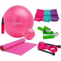 Cosfer Pilates Seti New Model 55 cm PilatesTop & 120 cm Pilates Lastiği