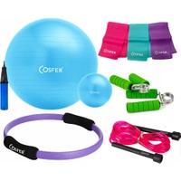 Cosfer Pilates Seti New Model 65 cm PilatesTop & 38 cm Pilates Çemberi