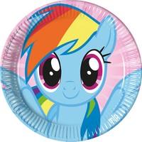 PartiBulutu Rainbow Pony Karton Tabak 23cm 8'li