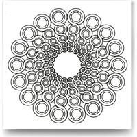 Evdeka Sarmal Halkalar Desenli Mandala Kanvas Tablo