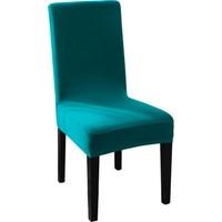 Sweat Likralı Sandalye Kılıfı Her Sandalyeye Uygun Yıkanabilir Sandalye Örtüsü Turkuaz