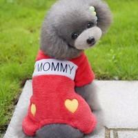 Kemique I Love Mommy Kırmızı Köpek Tulumu Tooloom By Kemique