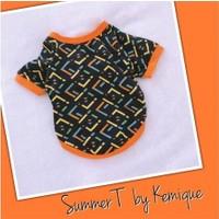 Kemique Orange Blocks Oval Yaka Tişört Summer T By Kemique - Kedi Kıyafeti Kedi Elbisesi