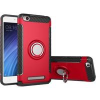 Case 4U Xiaomi Redmi 4AKılıf Yüzüklü Darbeye Dayanıklı Kırmızı (Mıknatıslı Araç Tutucu Uyumlu)