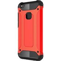Gpack Huawei P10 Lite Kılıf Darbe Emici Crash Arka Kapak Kırmızı + Cam