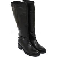 Gön Deri Kadın Çizme Siyah 63578