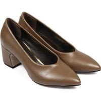 Gön 36007 Koyu Kahverengi Kadın Ayakkabı