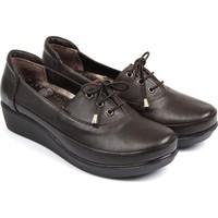 Gön Deri Kadın Ayakkabı Kahverengi 36010