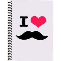 Morning Glory 1811 A4 I Love Mustache Spiralli Kareli Defter Desen