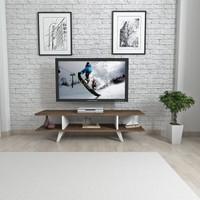 Mars Mobilya Dream Ceviz - Beyaz Tv Sehpası
