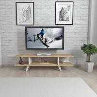 Mars Mobilya Dream Meşe - Beyaz Tv Sehpası