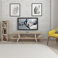 Mars Mobilya Sinerji Meşe - Beyaz Tv Ünitesi