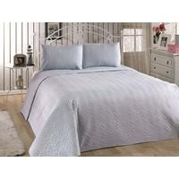 Eponj Home Bedspread Yatak Örtüsü Seti Çift Kişilik DüzBoya A.Mavi