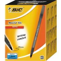 Bic Round Stick Tükenmez 60'lı Kalem Siyah