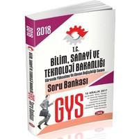 Data 2018 GYS Bilim Sanayi Ve Teknoloji Bakanlığı Soru Bankası
