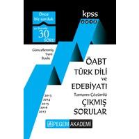 Pegem 2018 ÖABT Türk Dili Ve Edebiyatı Çıkmış Sorular Çözümlü