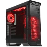 Dark N10 Advanced 5x12cm Kırmızı Fanlı Fan Kontrollü Full Cam Yan Panelli USB 3.0 Bilgisayar Kasası (DKCHN10ADV)