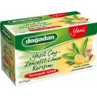 Doğadan Yumuşak İçimli Yeşilçay Zencefil Limon Karışımı