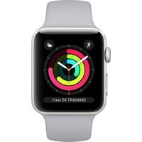 Apple Watch Seri 3 38mm Gümüş Rengi Alüminyum Kasa ve Puslu Spor Kordon - MQKU2TU/A