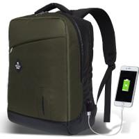 My Valice Smart Bag Energy Usb Şarj Girişli Akıllı Sırt Çantası Haki