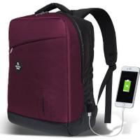 My Valice Smart Bag Energy Usb Şarj Girişli Akıllı Sırt Çantası Bordo