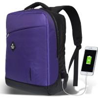My Valice Smart Bag Energy Usb Şarj Girişli Akıllı Sırt Çantası Mor