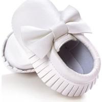 Romirus Bebek Ayakkabı Makosen Fiyonklu Beyaz 18