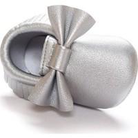 Romirus Bebek Ayakkabı Makosen Fiyonklu Gümüş 18