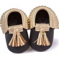 Romirus Bebek Ayakkabı Makosen Püsküllü Siyah Gold 17