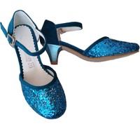 Pan Kostüm Elsa Kostüm Ayakkabı Turkuaz