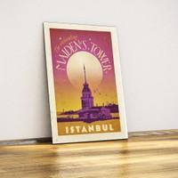 Javvuz Kız Kulesi - Dekoratif Metal Plaka