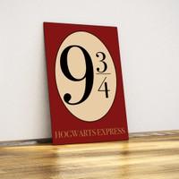 Javvuz Hogwarts Express - Platform 9 ¾ - Metal Poster