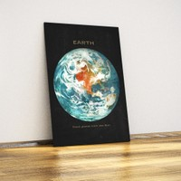 Javvuz Gezegen Dünya - Dekoratif Metal Plaka