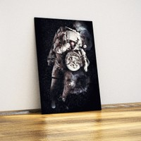 Javvuz Dünya Küçük - Dekoratif Metal Plaka