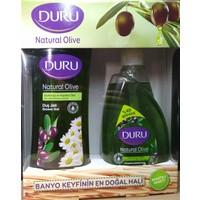Duru Naturel Olive Duş Jeli 500Ml & 500Ml Sıvı Sabul 2 Li Paket