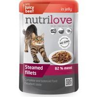Nutrilove Tahılsız Jelly Biftekli Kedi Pouch 85 Gr