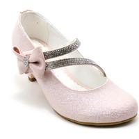 Mini Women 750 Kız Çocuk Ökçeli Kız Ayakkabı Pudra