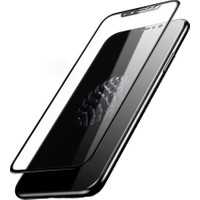 Kapakevi iPhone X 5D Nano Ekran Koruyucu Cam Kenarları Tam Kaplayan Kavisli Siyah