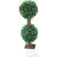 Yapay Ağaç Dekoratif 2 Katlı Küçük Top Şimşir 53 cm