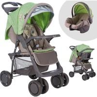Lorelli Foxy Beige Green Travel Sistem Bebek Arabası