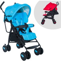 Baby Home BH-104 Tam Yatar Siyah Mavi Baston Bebek Arabası